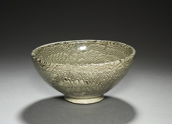 Marbled Bowl, Northern Song period, 12th century. China, possibly from the Dangyangyu kilns in Xinwu county, Henan province. 13.5 cm The Cleveland Museum of Art, Gift of Donna and James Reid