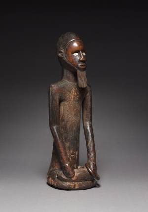 Male Figure, late 1800s–early 1900s. Republic of the Congo, Beembe people. Wood, ceramic, copper alloy, iron alloy; h. 47.5 cm. René and Odette Delenne Collection, Leonard C. Hanna Jr. Fund 2010.428.