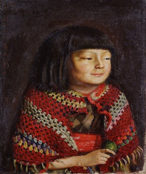 Portrait of Reiko, 1921. Kishida Ryusei (Japanese, 1891–1929). Oil on canvas; 48.25 x 55.88 cm. Tokyo National Museum (A-10568)