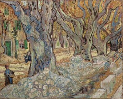 The Large Plane Trees, November–December 1889. Vincent van Gogh (Dutch, 1853–1890). Oil on canvas; 73.4 x 91.8 cm. The Cleveland Museum of Art, Gift of the Hanna Fund 1947.209
