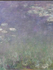 Water Lilies (Agapanthus) (detail), c.1915-1926. Claude Monet (French, 1840-1926). Oil on canvas; 201.3 x 425.8 cm. John L. Severance Fund and an anonymous gift 1960.81