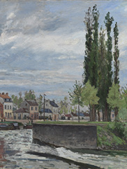 The Lock at Pontoise (detail), 1872. Camille Pissarro. The Cleveland Museum of Art, 1990.7