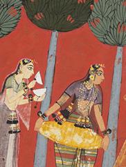 Women Play Music for Radha and Krishna: Chitrini Nayika, from a Rasikapriya. CMA 2018.132