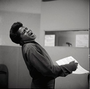James Brown, 1966. Courtesy of the Chuck Stewart Estate
