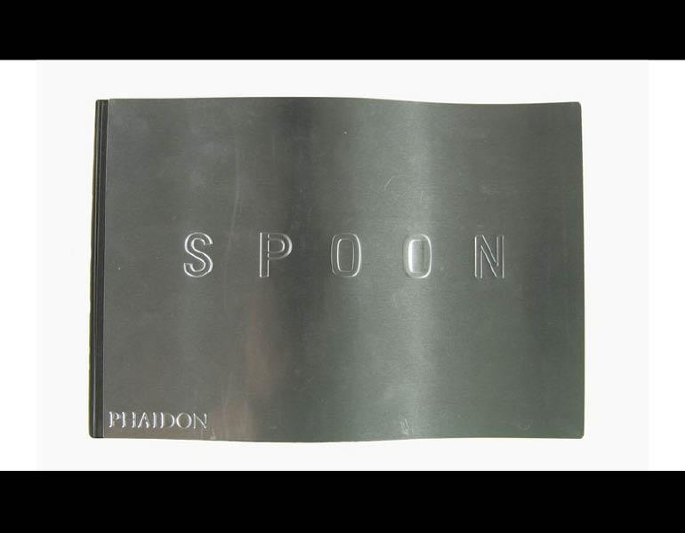 Spoon's waved metal cover represents the title, which highlights contemporary industrial designers. Call number: TS171 .S69 2002
