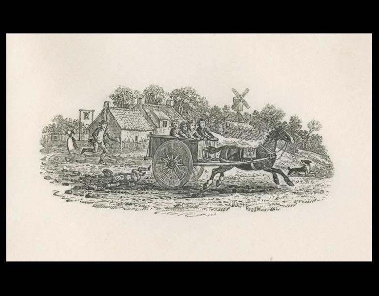"""Thomas Bewick, 1972, Plate 1 """"A vignette from the Land Birds"""""""