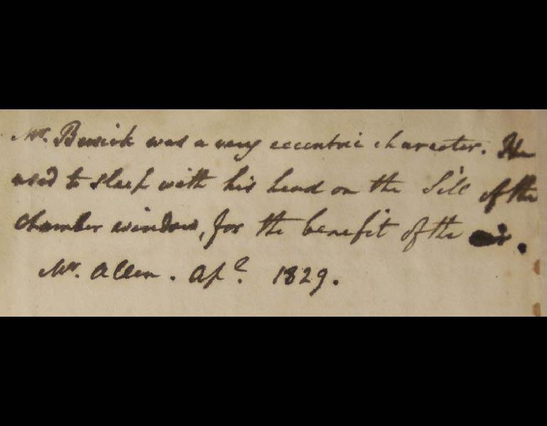 Inscription in the Ingalls Library's copy of British Birds: Vol 1, Land Birds
