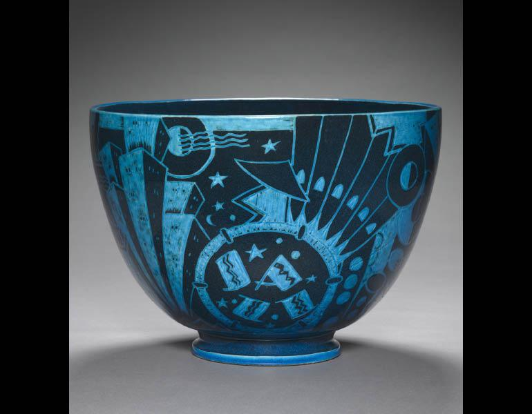 Viktor Schreckengost (American, 1906-2008). New Yorker or the Jazz Bowl, c. 1930. Ceramic. John L. Severence Fund 2000.65