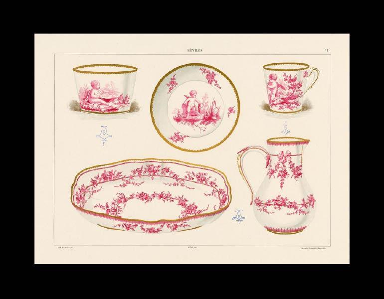 A selection of Sèvres soft-paste porcelain, La Porcelaine Tendre de Sèvres