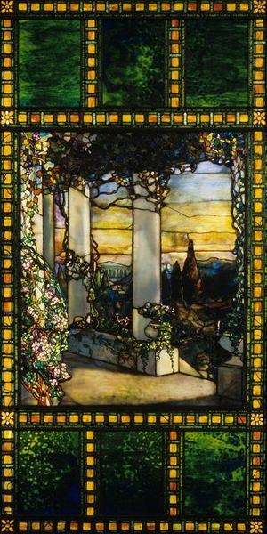 Louis Comfort Tiffany (1848-1933). Window (Howell Hinds House), c. 1900. Stained glass; 227.3 x 114.3 cm. Gift of Mrs. Robert M. Fallon. 1966.432