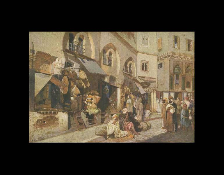 Algerian Shops, painted in 1895 (page 6).