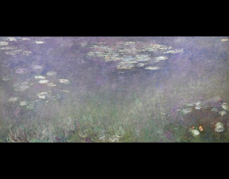 Water Lilies (Agapanthus), c.1915-1926. Claude Monet (French, 1840-1926). Oil on canvas; 201.3 x 425.8 cm. John L. Severance Fund and an anonymous gift 1960.81