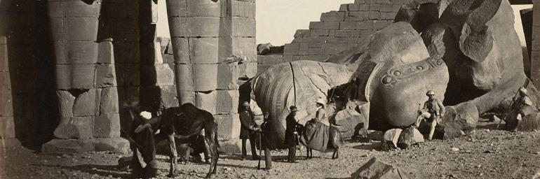 Fallen Statue at the Ramesseum, Thebes (detail), 1857. Francis Frith (British, 1822–1898). Albumen print from wet collodion negative; 38.3 x 48.2 cm. Andrew R. and Martha Holden Jennings Fund 1992.236