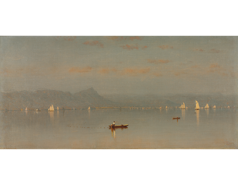 Haverstraw Bay, 1868. Painting by Sanford Robinson Gifford. CMA 2011.43