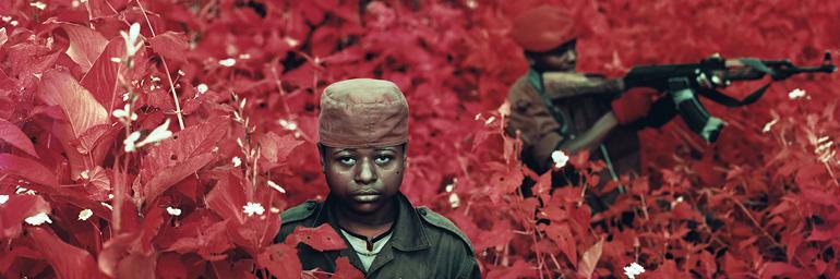 Vintage Violence, North Kivu, Democratic Republic of Congo (detail), 2011. Richard Mosse (Irish, b. 1980). Digital C-print; 182.9 x 228.6 cm. Courtesy of the artist and Jack Shainman Gallery, New York