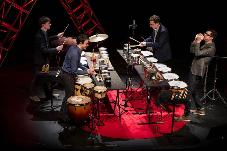 Third Coast Percussion. Photo Credit: Barbara Johnson, University Photographer. Copyright University of Notre Dame