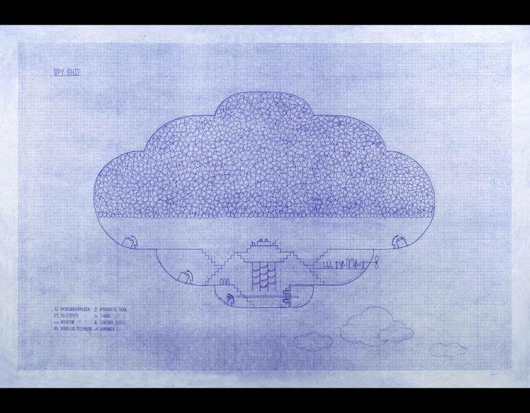 Spy Ship, 2004. Kim Beom (Korean, b. 1963). Blueprint; 56.5 x 80.5 cm. Courtesy of the artist. © Kim Beom
