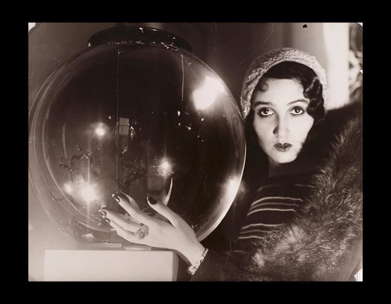 """""""The Crystal Ball (La Boule de Verre), 1931. Jacques-Henri Lartigue (French, 1894–1986). Gelatin silver print, toned; 23.7 x 29.9 cm. The Cleveland Museum of Art, John L. Severance Fund 2007.149. Photograph by Jacques Henri Lartigue © Ministère de la Cult"""