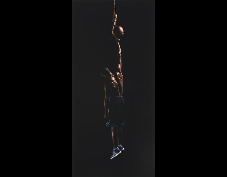Strange Fruit, from Strange Fruit, 2011. Hank Willis Thomas (American, born 1976). Digital chromogenic print, Lambda; 60 x 28 1/2 in. The Cleveland Museum of Art, Purchase from the J. H. Wade Fund 2012.61 © Hank Willis Thomas.