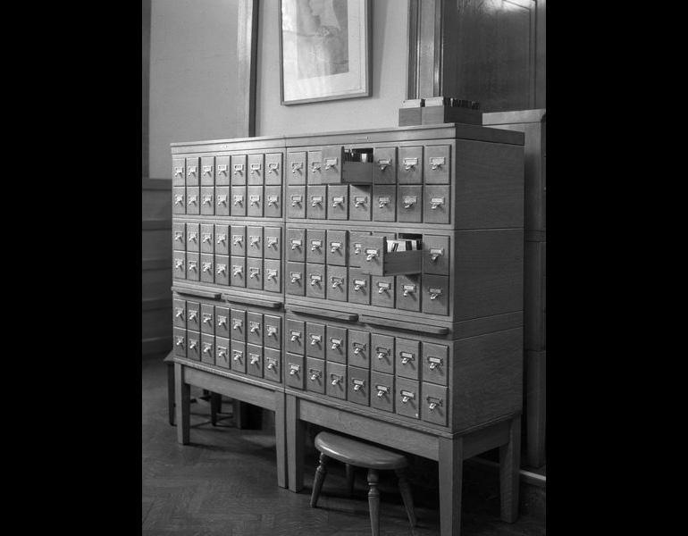 Lantern Slide Cabinet, 1932.