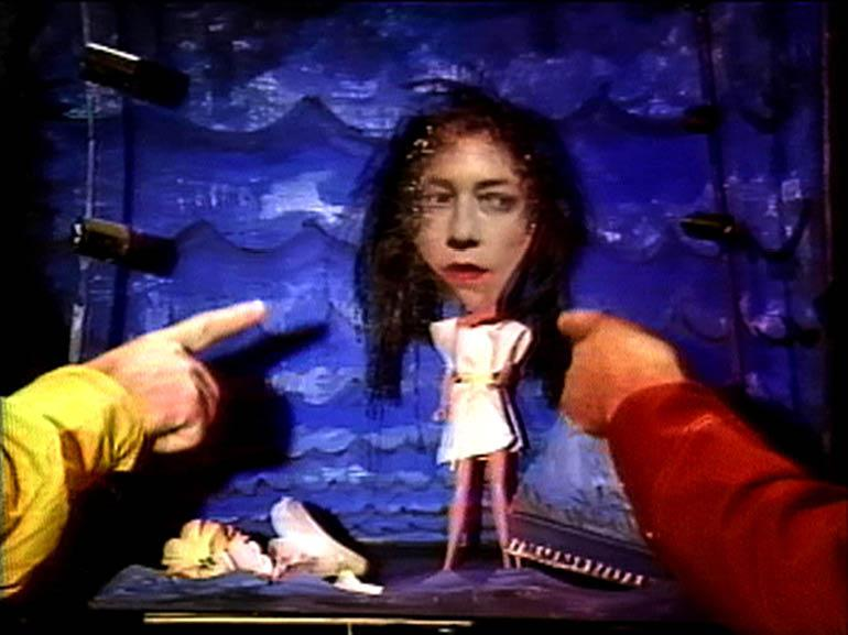 Tunic (Song for Karen), 1990. Tony Oursler (American, born 1957).  In collaboration with Sonic Youth. Color, sound; 6:17 min. Courtesy of the artist and Electronic Arts Intermix (EAI), New York.