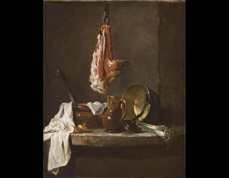 Still Life with a Rib of Beef, 1739. Jean-Siméon Chardin (French, 1699–1779). Oil on canvas; 41 x 34 cm. Allen Memorial Art Museum, Oberlin College, Oberlin, Ohio, R. T. Miller Jr. Fund 1945.32
