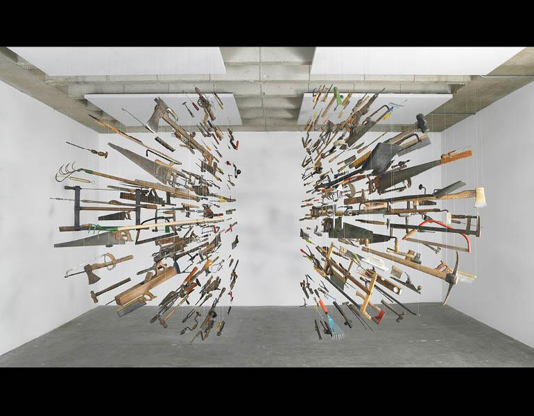 Controller of the Universe, 2007. Damián Ortega (Mexican, b. 1967). Found tools and wire; 285 x 405 x 455 cm. © Damián Ortega, Courtesy White Cube. Photo: Stephen White