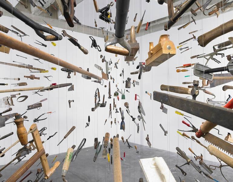 Controller of the Universe (detail), 2007. Damián Ortega (Mexican, b. 1967). Found tools and wire; 285 x 405 x 455 cm. © Damián Ortega, Courtesy White Cube. Photo: Stephen White