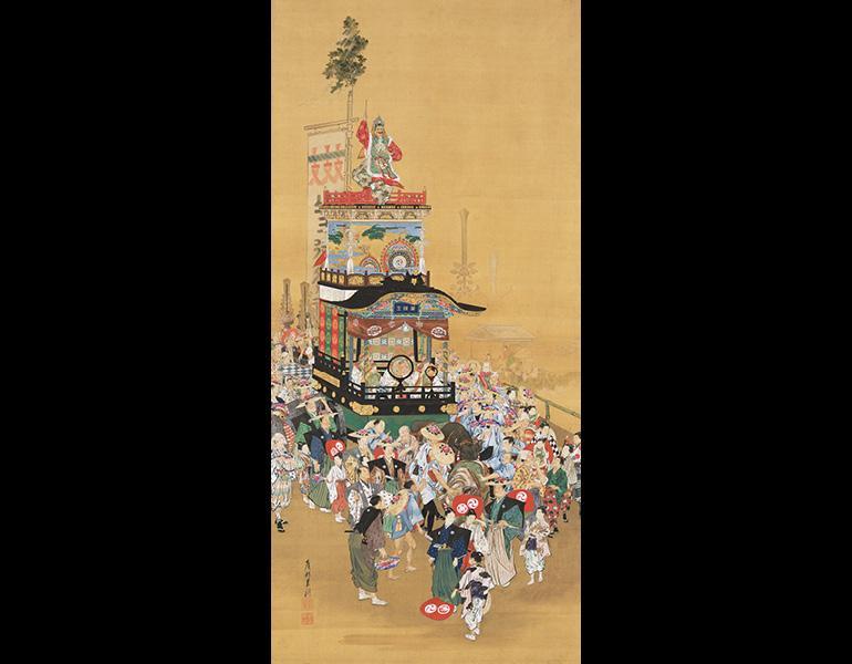 Sanno Festival in Edo, 1893 (Meiji 26). Ogata Gekkō (1859–1920). Hanging scroll, color on silk; 178.7 x 84.8 cm. Tokyo National Museum, A-139