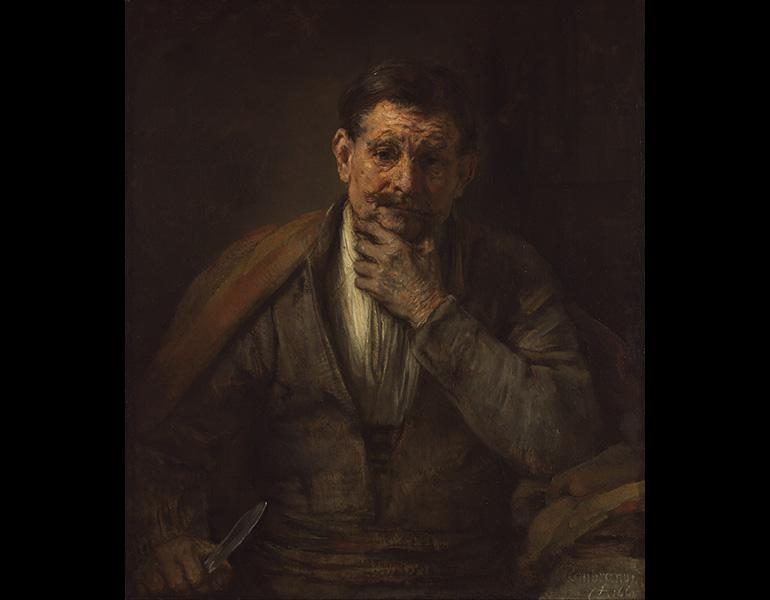 Saint Bartholomew, 1661. Rembrandt van Rijn (Dutch, 1606–1669). Oil on canvas; 86.7 x 75.6 cm. The J. Paul Getty Museum, Los Angeles 71.PA.15