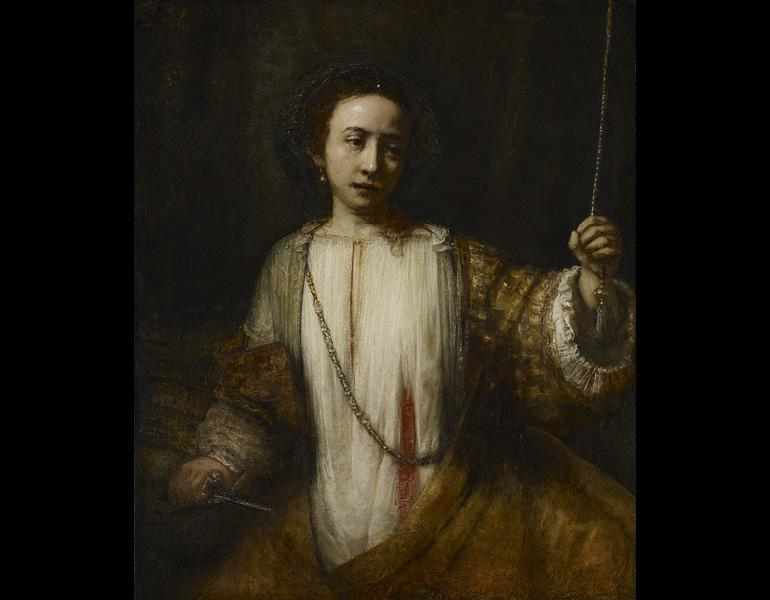 Lucretia, 1666. Rembrandt van Rijn (Dutch, 1606–1669). Oil on canvas; 110.2 x 92.3 cm. Minneapolis Institute of Arts, The William Hood Dunwoody Fund 34.19