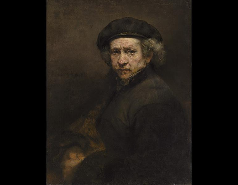 Self-Portrait, 1659. Rembrandt van Rijn (Dutch, 1606–1669). Oil on canvas; 84.5 x 66 cm. National Gallery of Art, Washington, Andrew W. Mellon Collection 1937.1.72. Image courtesy National Gallery of Art, Washington