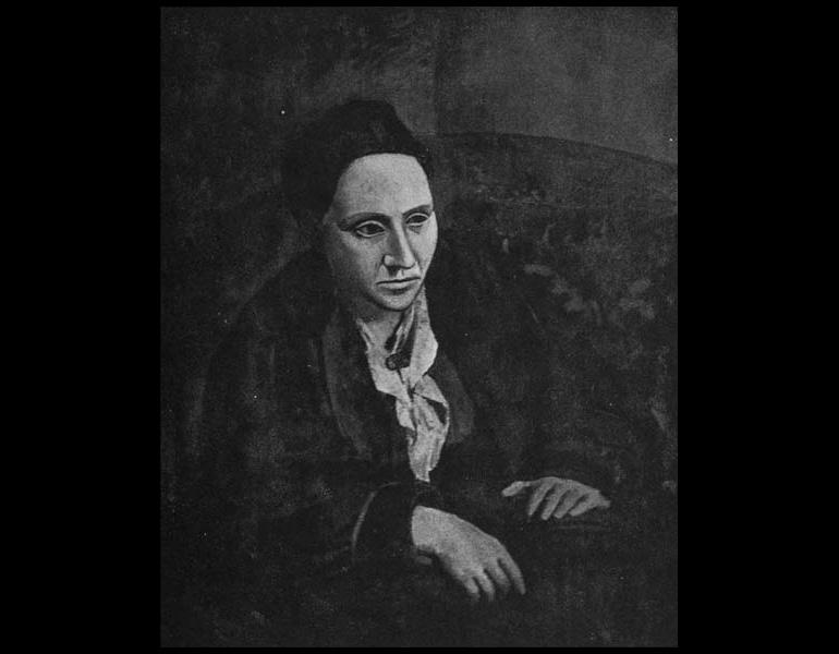 Photograph of Portrait - Gertrude Stein by Pablo Picasso, Camera Work, June 1913, Special Number.