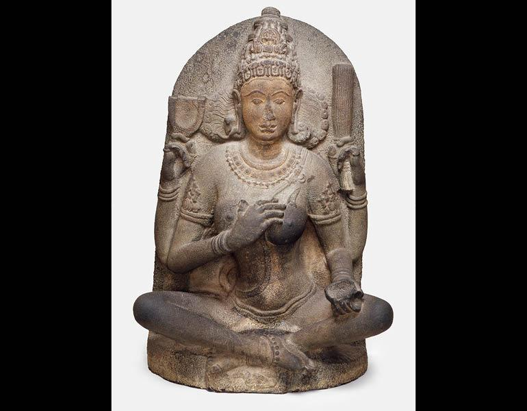 Yogini, c. 900–975. India, Tamil Nadu, Kanchipuram or Kaveripakkam. Metagabbro; 116 x 76 x 43.2 cm. Arthur M. Sackler Gallery, Gift of Arthur M. Sackler S1987.905.