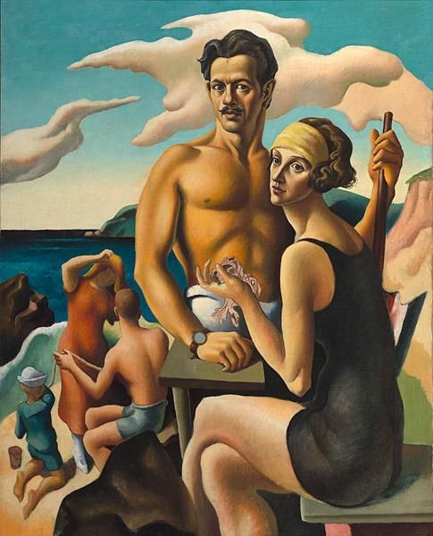 Self-Portrait with Rita (detail), 1922. Thomas Hart Benton (American, 1899–1975). Oil on canvas; 124.5 x 100 cm. National Portrait Gallery, Smithsonian Institution, Washington, D.C., Gift of Mr. and Mrs. Jack H. Mooney.