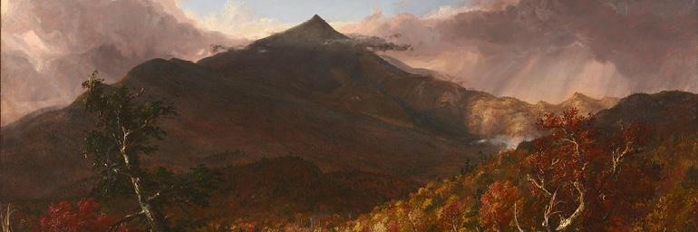 View of Schroon Mountain, 1838. Thomas Cole. Oil on canvas; 39-1/4 x 63-3/16 in. Hunman B. Hurlbut Collection 1335.1917