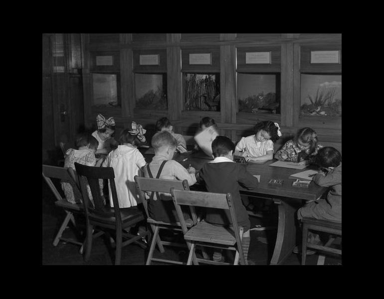 Saturday Morning class in Children's Museum, 1935. IML 962271