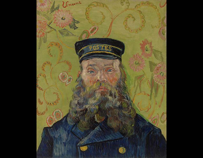 The Postman (Joseph-Étienne Roulin), January–February 1889. Vincent van Gogh. Oil on canvas; 65.7 x 55.2 cm. The Barnes Foundation BF37, F435. Image © 2013 The Barnes Foundation.