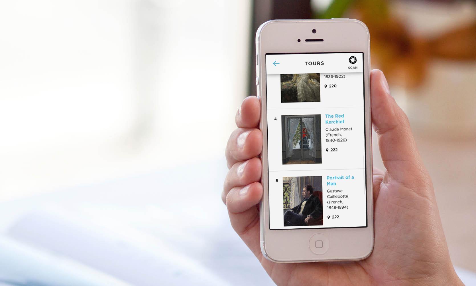 smartphone with Artlens app