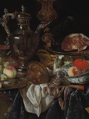 Silver Wine Jug, Ham, and Fruit, c. 1660–66. Abraham van Beyeren. Mr. and Mrs. William H. Marlatt Fund, 1960.80